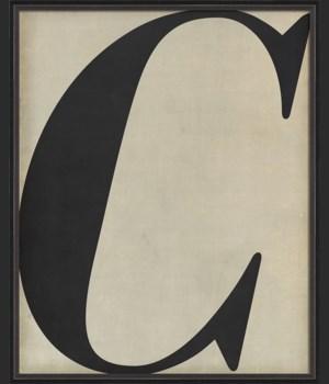 BC Letter C black on white