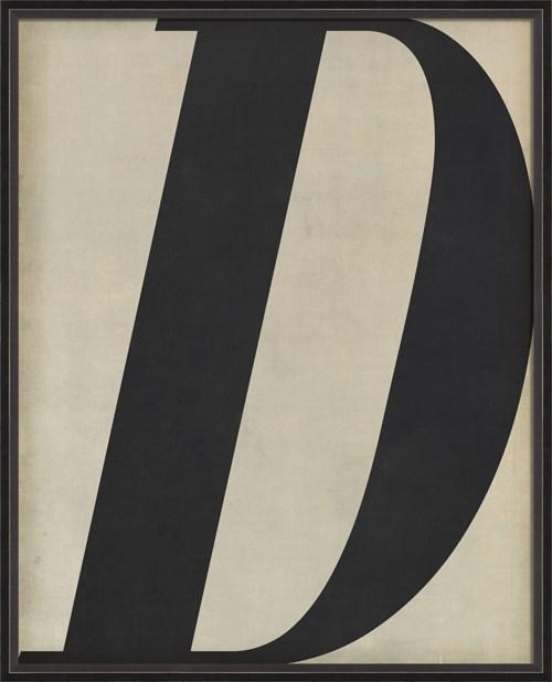 BC Letter D black on white