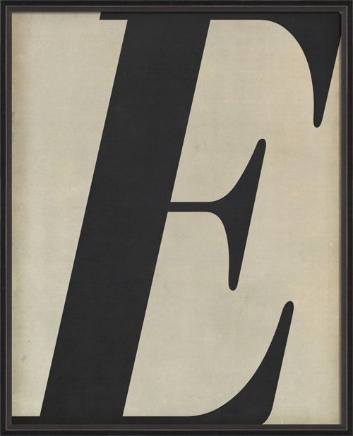 BC Letter E black on white