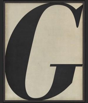 BC Letter G black on white