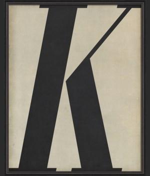 BC Letter K black on white