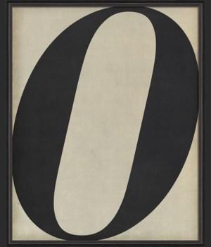 BC Letter O black on white
