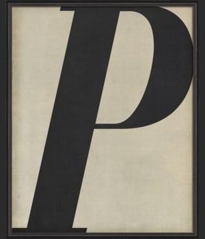 BC Letter P black on white