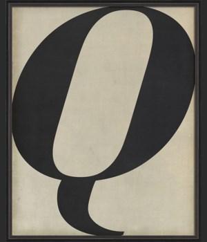 BC Letter Q black on white