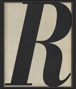 BC Letter R black on white
