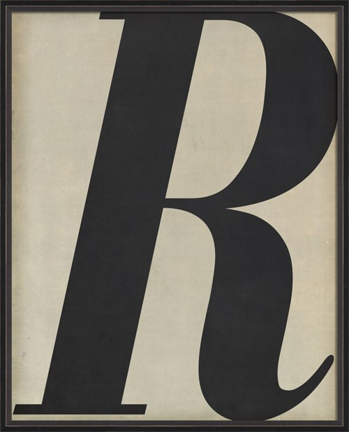 BC Letter R black on white