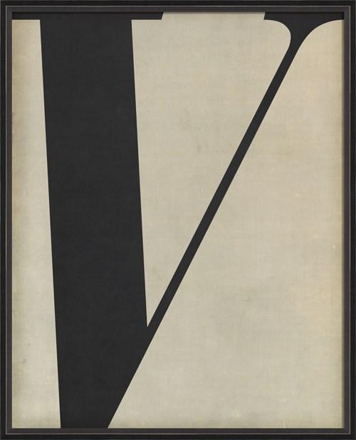 BC Letter V black on white