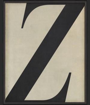 BC Letter Z black on white