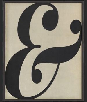 BC Letter Ampersand black on white