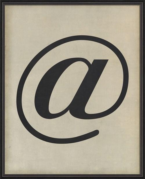 BC Letter At  Symbol black on white