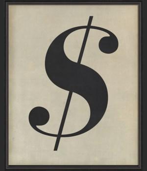 BC Letter Dollar Sign black on white