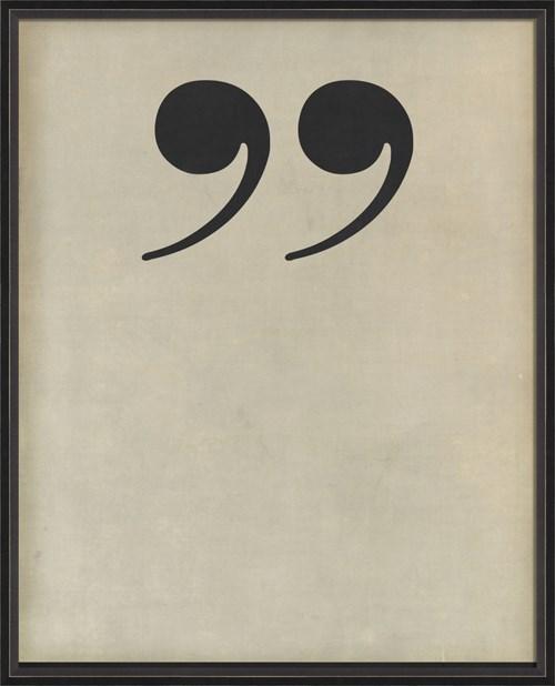 BC Letter End Quotes black on white