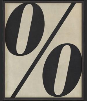 BC Letter Percent Symbol black on white