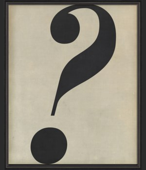 BC Letter Question Mark black on white