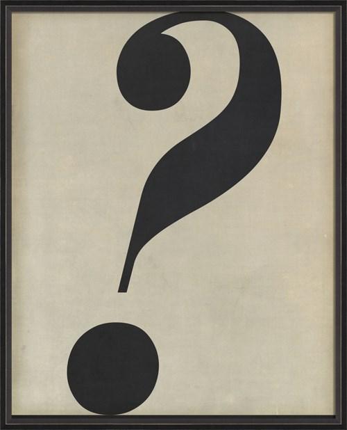 BC Letter Question Mark black on white