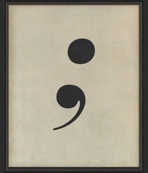 BC Letter Semi Colon black on white