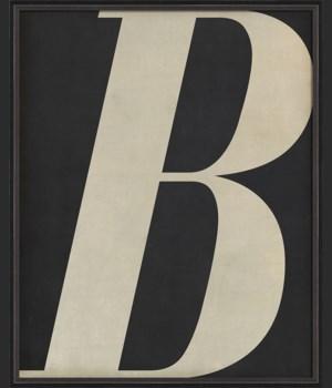 BC Letter B white on black