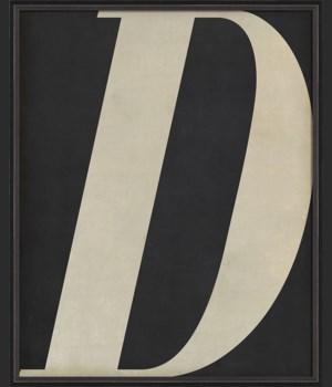 BC Letter D white on black