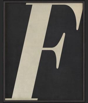 BC Letter F white on black