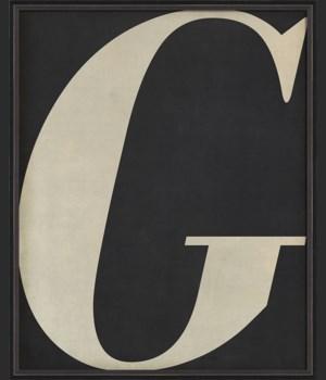 BC Letter G white on black