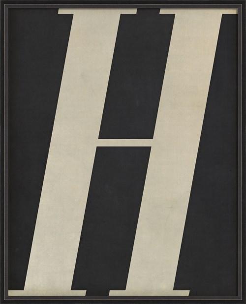 BC Letter H white on black