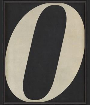 BC Letter O white on black