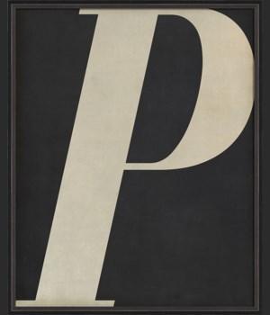 BC Letter P white on black