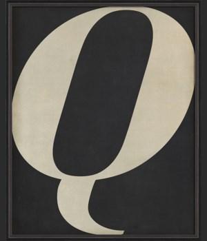 BC Letter Q white on black