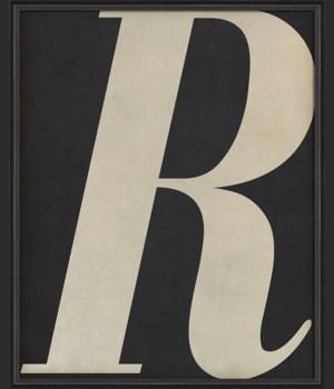 BC Letter R white on black