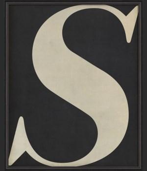 BC Letter S white on black