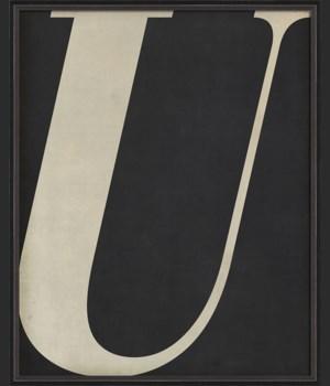 BC Letter U white on black