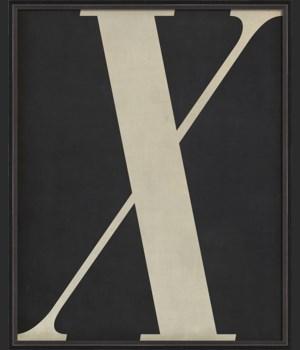 BC Letter X white on black