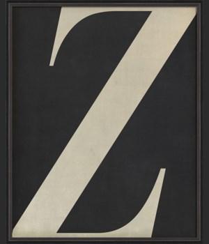 BC Letter Z white on black