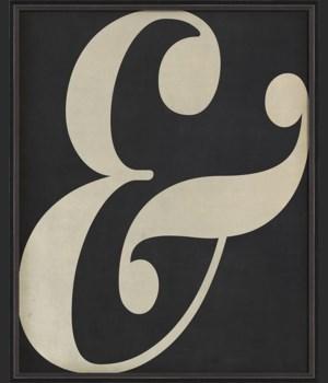 BC Letter Ampersand white on black