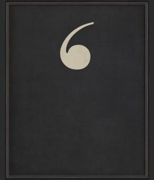 BC Letter Apostrophe white on black