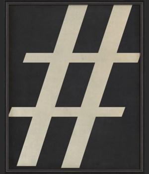 BC Letter Hashtag white on black