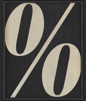 BC Letter Percent Symbol white on black