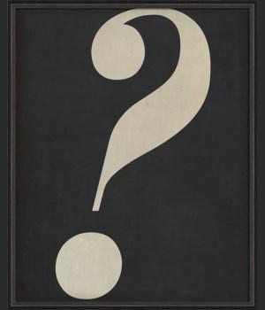 BC Letter Question Mark white on black