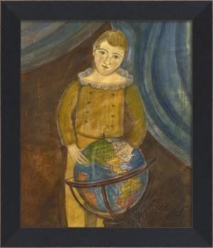 MI Boy with Globe