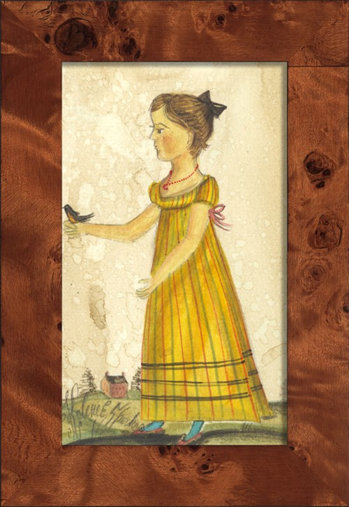 NA Girl in Yellow Holding Robin