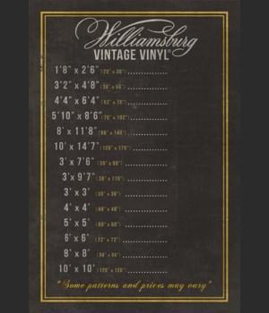 WILLIAMSBURG Vintage Vinyl Pricing Chalkboard