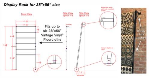 Vintage Vinyl Display Rack for 38x56's