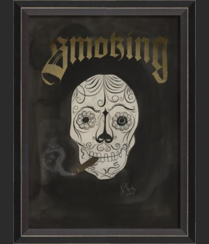 BC Skull with Cigar - Smoking
