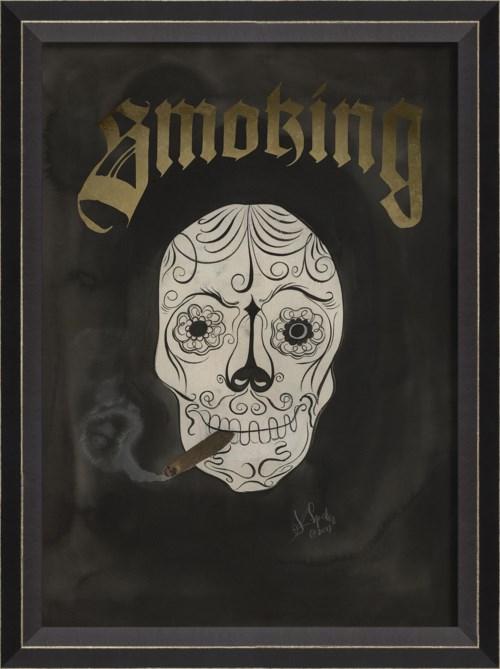 BC Skull with Cigar - Smoking