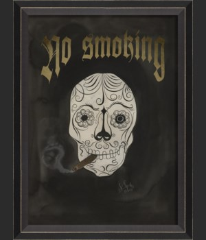 BC Skull with Cigar - No Smoking