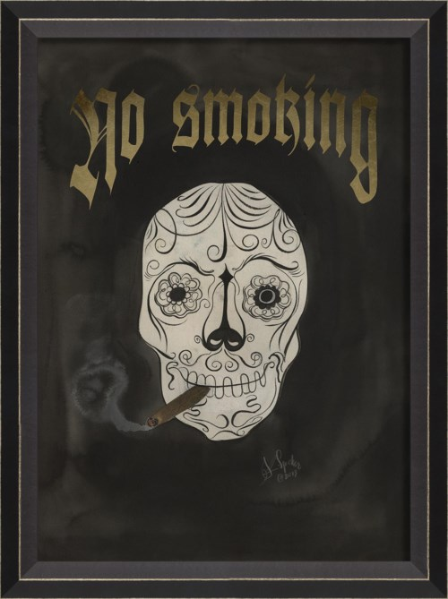 BC Skull with Cigar - No Smoking