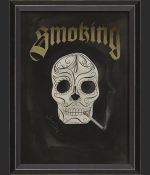 BC Skull with Cigarette - Smoking