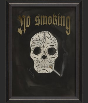 BC Skull with Cigarette - No Smoking