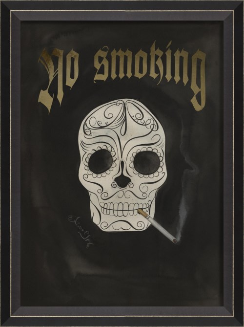 BC Skull with Cigarette - No Smoking