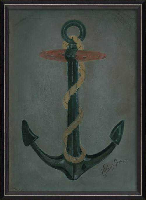 BC Fouled Anchor Wooden Stock